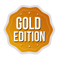 gold edition label or sticker vector image