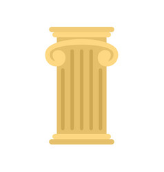 Greek pillar icon flat style vector