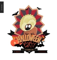 Halloween party composed sign vector
