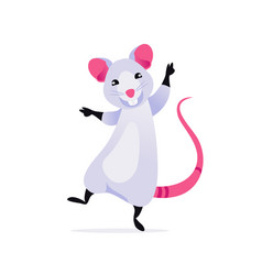 happy rat vector image