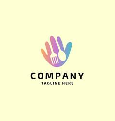 hello food logo vector image