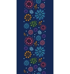 Holiday fireworks vertical seamless pattern vector image