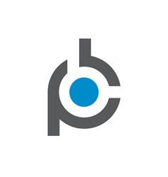initial alphabet pb or bp logo vector image