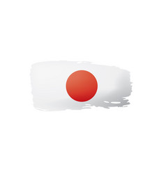 Japan flag on a white vector