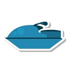 jetski vehicle isolated icon vector image