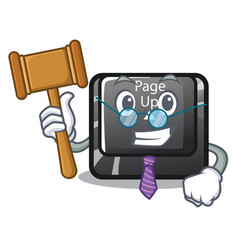 Judge button page up keyboard mascot vector