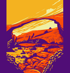 Landscape arch located in arches national park vector