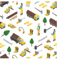 Lumberman woodcutter seamless pattern background vector
