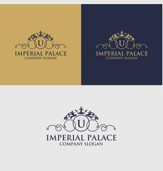 Luxury crest decorative logo vector