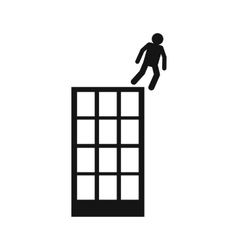 Man falling down of building icon vector