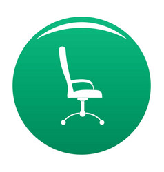 Massage chair icon green vector