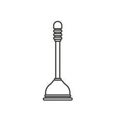 Monochrome silhouette of toilet plunger icon vector