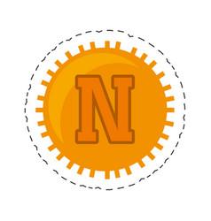 Novacoin money golden commerce vector