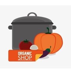 Organic shop vegetables meal vegetarian cooking vector