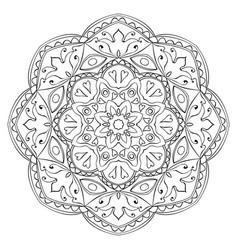 ornamental abstract mandala vector image