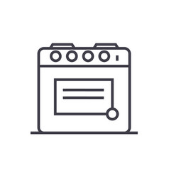Oven line icon sign vector
