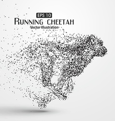 Particle cheetah vector