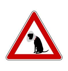Pet hospital warning sign vector image