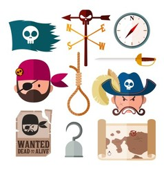 Pirate icon vector