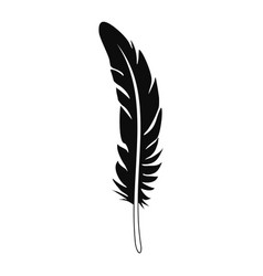 Plume feather icon simple style vector
