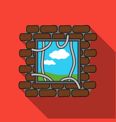 Prison escape icon in flat style isolated on white vector