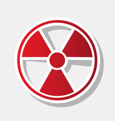 radiation round sign new year reddish vector image