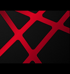 red and black metal background vector image