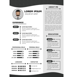 resume and cv template with nice design vector image