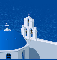 Santorini greece vector