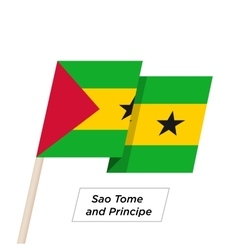 Sao Tome and Principe Ribbon Waving Flag Isolated vector image