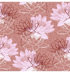 Seamless pattern with water lilies vector image vector image