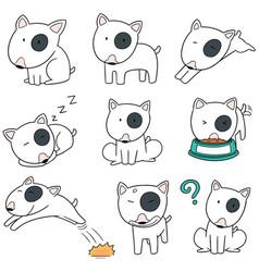 set of dog bull terrier vector image