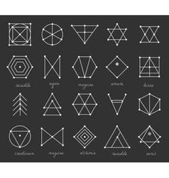 Set of geometric hipster shapes 9225711black vector