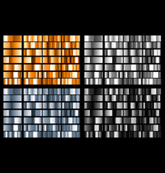 set of metal gradients vector image