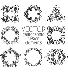 Set of various design elements and page vector image