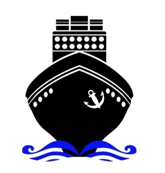 Ship Black Silhouette vector