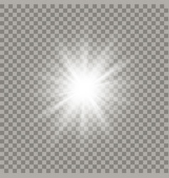 Soft white shining star vector