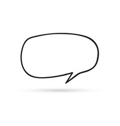 speech bubble cloud draw doodle brush sketch vector image