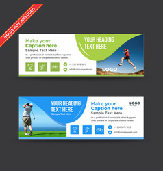 Sports wavy web banners vector