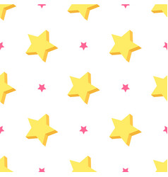 starry seamless pattern vector image