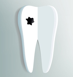 tooth as a notepad with ink drop vector image