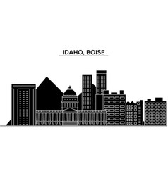Usa idaho boise architecture city skyline vector