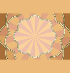 vintage pop art background patterned form vector image