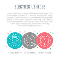 Website banner and landing page electric vector