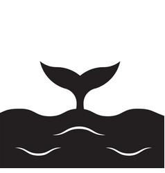 whale banner vector image