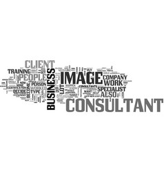 what type of image consultant do you want to be vector image