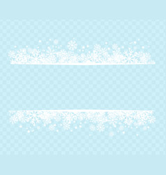winter snowflakes blue background for holiday text vector image