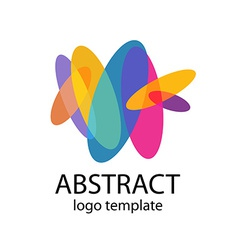 Abstract colorful shapes logo template vector image vector image