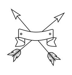 arrows crossed icon vector image