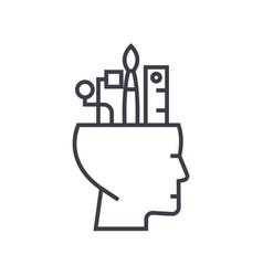 art thinking concept thin line icon symbol vector image
